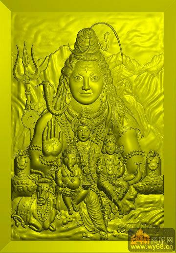 印度佛像-电脑雕刻素材