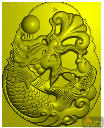 龙鱼-家具雕刻素材
