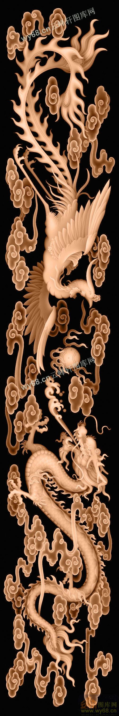 龙凤戏珠板-高清精雕图