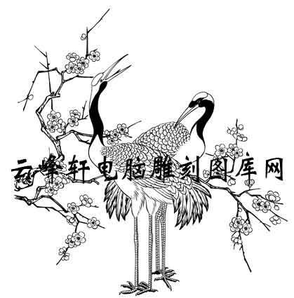 飞着仙鹤的简笔画