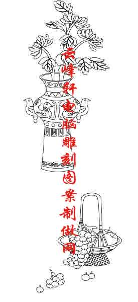 素描竹子的画法铅笔画-梅兰竹菊国画白描矢量雕刻图004