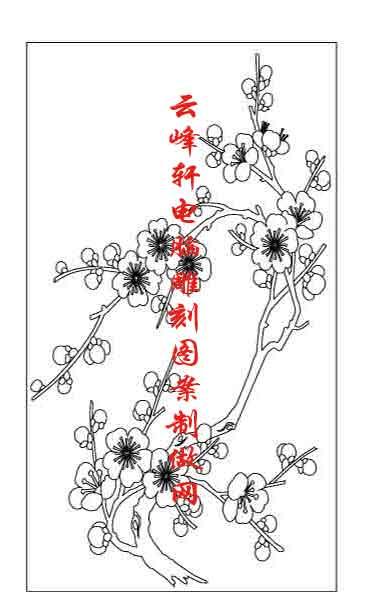 简单的竹子水墨画-梅兰竹菊国画白描矢量雕刻图079