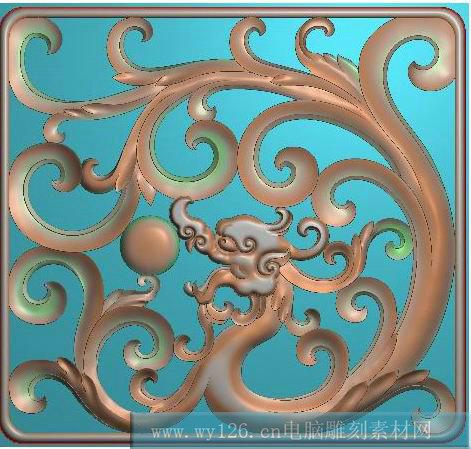 木雕刻龙,龙浮雕,家具雕刻龙